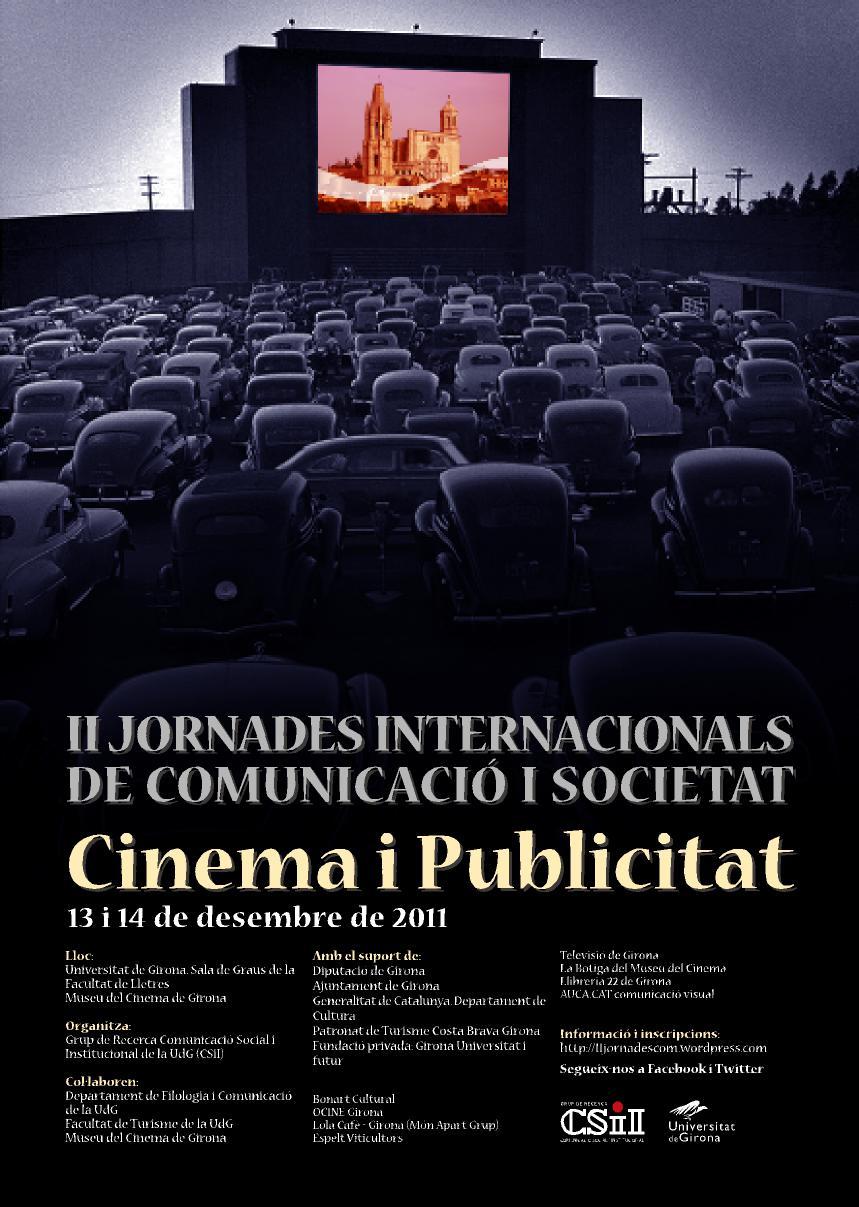 II Jornades Internacionals de Comunicació i Societat. Publicitat i Cinema