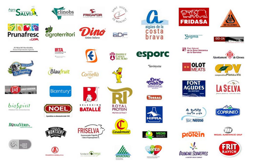 Logos of companies in the sector