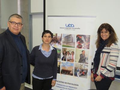 Mònica González visita el Centro de Estudios en Bienestar y Convivencia Social de la Universidad del Desarrollo (Xile)