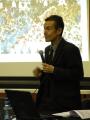 Pere Miró, conferenciant a Banyoles, en els actes del 25è aniversari dels JJOO de Barcelona'92
