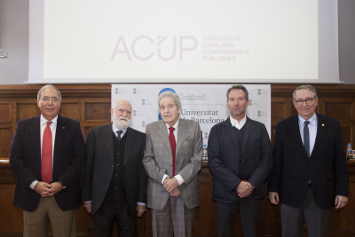 Entrega de les medalles ACUP al reconeixement universitari