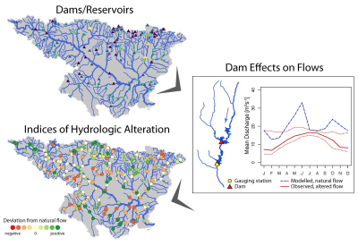 Hydrological alteration in the River Ebro