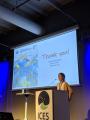 Alba Serrat presenting her talk