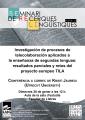 """Conferència: """"Investigación de procesos de telecolaboración aplicados a la enseñanza de segundas lenguas: resultados parciales y retos del proyecto europo TILA"""""""
