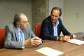 Ramon Boixadós i Sergi Bonet en un moment de la signatura