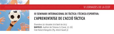 VI Jornades de la CEEF UdG: L'aprenentatge de l'acció tàctica