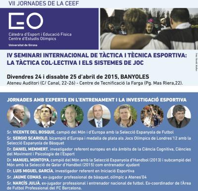Cartell ponents IV Seminari de Tècnica i Tàctica Esportiva