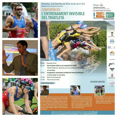 """Imatge cartell de les conferències """"Entrenament invisible del triatleta"""""""