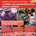 """Cartell de la Jornada """"Esport i valors educatius en edat escolar"""""""