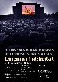 Cartell II Jornades Internacionals Comunicació i Societat. Publicitat i Cinema