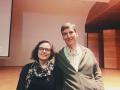 Ferran Casas i Marian Bilbao durant el seminari.