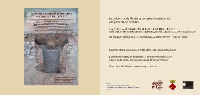 Invitació a la presentació del llibre La bòbila d'Ermedàs (Cornellà del Terri). Una indústria de producció ceràmica d'època romana al Pla de l'Estany