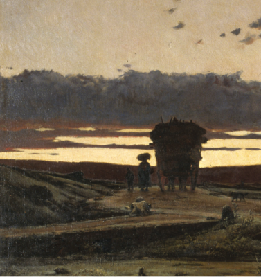 Joaquim Vayreda, Recança (1876). Detall. Web del Museu Nacional d'Art de Catalunya de Barcelona, www.museunacional.cat