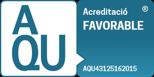 Acreditació favorable de l'Agència per a la Qualitat del Sistema Universitari de Catalunya